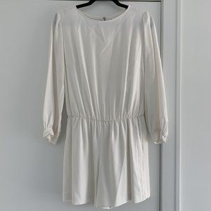 Club Monaco White Long Sleeve Romper - Size 0